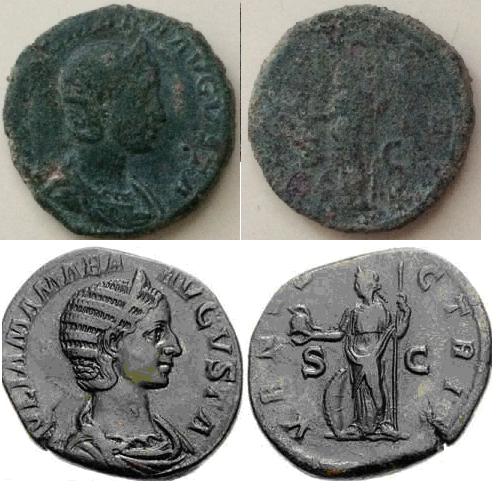 Sestercio de Julia Mamaea. VENVS VICTRIX - S C. Venus estante a izq. Roma. 1