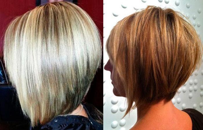 Длинное каре с челкой. Фото брюнетки, блондинки для круглого, овального, треугольного лица