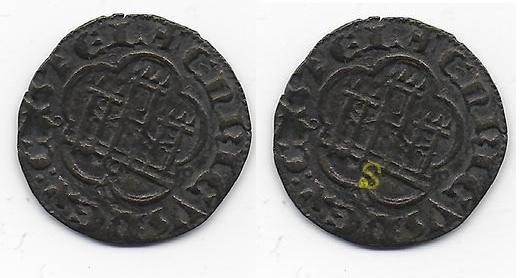 1/2 blanca de Enrique III. Sevilla S