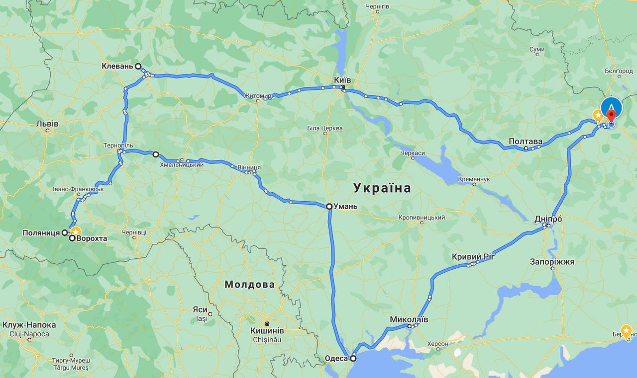 Мотоприключения 2020 Харьков-Карпаты-Одесса-Харьков