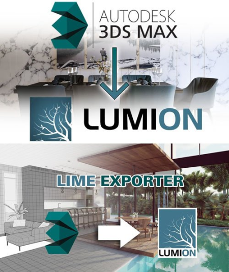 Lime Exporter 1.22 for 3ds Max 2014-2020 to Lumion