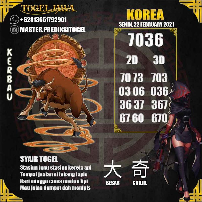 Prediksi Korea Tanggal 2021-02-22