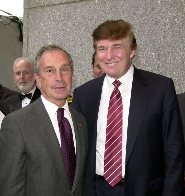 Michael Bloomberg and Donald Trump in 2003 during Bloomberg was Mayor of New York