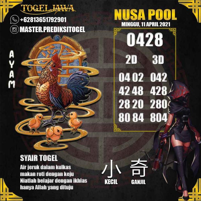 Prediksi NusaPool Tanggal 2021-04-11