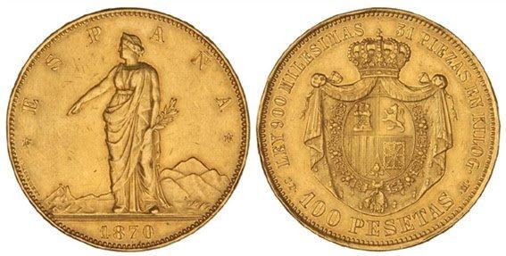 Las 100 pesetas Gobierno provisional 1870 Nt19416ft31